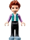 Minifig No: frnd425  Name: Friends Ethan, Black Trousers, Dark Turquoise Hoodie