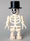 Minifig No: gen027  Name: Skeleton with Standard Skull, Top Hat