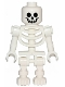 Minifig No: gen047  Name: Skeleton with Standard Skull, Bent Arms Vertical Grip