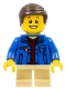 Minifig No: gen078  Name: Boy, Denim Jacket, Tan Short Legs