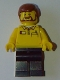 Minifig No: gen083  Name: Lego Store Employee, Dark Blue Legs, Brown Beard