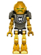 Minifig No: hf004  Name: Hero Factory Mini - Rocka - Pearl Dark Gray Armor