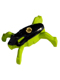 Minifig No: hf007  Name: Hero Factory Jumper 1 (Black Top / Lime Base)