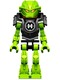 Minifig No: hf015  Name: Hero Factory Mini - Breez - Pearl Dark Gray Armor