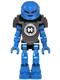 Minifig No: hf020  Name: Hero Factory Mini - Surge - Pearl Dark Gray Armor