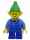 Minifig No: hol045b  Name: Elf - Blue Overalls, Brown Dimple