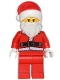 Minifig No: hol082  Name: Santa, Red Legs, Fur Lined Jacket, White Eyebrows, Wrinkles