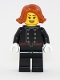 Minifig No: hol119  Name: Fire - Jacket with 8 Buttons, Dark Orange Female Hair Short Swept Sideways