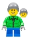 Minifig No: hol128  Name: Parka with Zipper, Blue Short Legs, Ski Beanie, Freckles