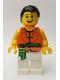 Minifig No: hol156  Name: Dragon Boat Race Team Green/Orange Member 4
