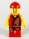 Minifig No: hol179  Name: Lion Dance Musician, Red Head Wrap, Smile, Red Robe with Gold Dragon