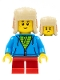 Minifig No: hol194  Name: Child Boy, Red Ushanka Hat, Dark Azure Hoodie, Lime Shirt, Red Short Legs