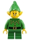 Minifig No: hol203  Name: Elf - Green Scalloped Collar with Bells