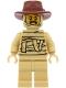 Minifig No: hol208  Name: Tractor Driver - Tan Mummy Costume, Reddish Brown Fedora Hat