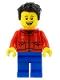 Minifig No: hol225  Name: Father, Red Shirt, Blue Legs, Black Hair
