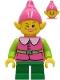 Minifig No: hol235  Name: Pink Elf - Green Legs