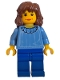 Minifig No: hp001  Name: Hermione, Medium Blue Torso, Blue Legs