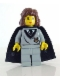 Minifig No: hp003  Name: Hermione Granger, Hogwarts Torso, Light Gray Legs, Black Cape with Stars