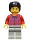 Minifig No: hp025  Name: Harry Potter, Red Shirt Torso, Light Gray Legs