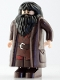 Minifig No: hp111  Name: Rubeus Hagrid, Dark Brown Topcoat with Buttons (Light Nougat Version with Movable Hands)