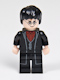Minifig No: hp133  Name: Harry Potter, Black Long Coat and Vest, Dark Red Shirt and Tie