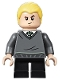 Minifig No: hp148  Name: Draco Malfoy, Slytherin Sweater, Black Short Legs