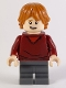 Minifig No: hp180  Name: Ron Weasley, Dark Red Sweater, Dark Bluish Gray Medium Legs