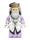 Minifig No: hp190  Name: Albus Dumbledore, Lavender Robe, Dark Tan Hat