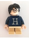 Minifig No: hp206  Name: Harry Potter, Dark Blue Sweater with Letter 'H'