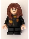 Minifig No: hp208  Name: Hermione Granger, Hogwarts Robe Clasped with Gryffindor Shield, Black Short Legs