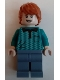 Minifig No: hp231  Name: Ron Weasley, Dark Turquoise Polo Shirt