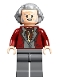 Minifig No: hp246  Name: Garrick Ollivander, Dark Red Jacket and Hair Swept Back