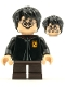 Minifig No: hp247  Name: Harry Potter, Black Torso Gryffindor Robe, Dark Brown Short Legs