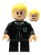 Minifig No: hp254  Name: Draco Malfoy, Black Torso Slytherin Robe