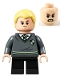 Minifig No: hp267  Name: Draco Malfoy, Slytherin Sweater with Crest, Black Short Legs