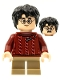 Minifig No: hp278  Name: Harry Potter, Dark Red Torn Sweater