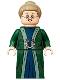 Minifig No: hp293  Name: Professor Minerva McGonagall, Dark Green Robe, Dark Tan Hair
