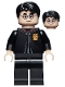 Minifig No: hp300  Name: Harry Potter, Gryffindor Robe Clasped Closed, Black Legs