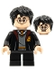 Minifig No: hp314  Name: Harry Potter, Gryffindor Robe Open, Sweater, Shirt and Tie, Black Short Legs