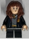 Minifig No: hp315  Name: Hermione Granger, Gryffindor Robe Open, Sweater, Shirt and Tie, Black Short Legs