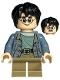 Minifig No: hp316  Name: Harry Potter, Sand Blue Jacket, Smiling