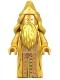 Minifig No: hp322  Name: Albus Dumbledore, 20th Anniversary Pearl Gold