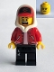 Minifig No: hs018  Name: Jack Davids (Red Jacket, Lopsided Smile / Scared)