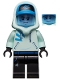 Minifig No: hs031  Name: Jack Davids - Light Aqua Hoodie with Cap and Hood (Bright Light Blue Head)