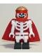 Minifig No: hs044  Name: Douglas Elton / El Fuego - Skeleton with Cape, Black Square Foot