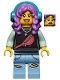 Minifig No: hs049  Name: Parker L. Jackson - Black Top with Headphones (Open Mouth Smile / Scared)