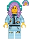 Minifig No: hs053  Name: Parker L. Jackson - Denim Jacket with Beanie (Crooked Smile / Angry)