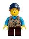 Minifig No: idea054  Name: Girl, Freckles, Dark Tan Vest Over Dark Azure Shirt, Dark Blue Cap