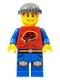 Minifig No: ixs011  Name: Xtreme Stunts Pepper Roni, Dark Bluish Gray Knit Cap