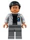 Minifig No: jw017  Name: Dr. Wu - Light Bluish Gray Jacket, Smile / Suspicious Frown